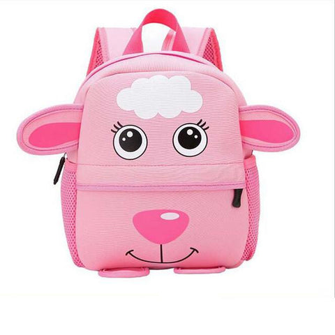 2017 New Cute Kids School Bags Baby Cartoon Animal Backpack Mini Baby Toddler Book Bag Kindergarten Boy Grils Rucksacks