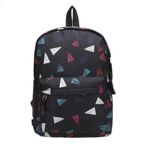 2017 canvas backpack school bag for teenagers girl boys backpack Geometric Patterns Printed mochila escolar Travel Bag Women