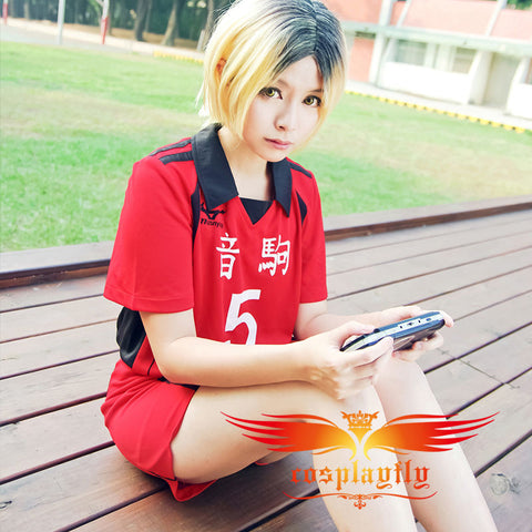 (Number can be changed) Anime Haikyu Nekoma High School Kozume Kenma No 5 Cosplay Jersey Costume (w0511)
