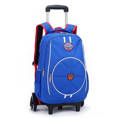 Boys 3 Wheels Climb Stairs Trolley Bags Kids Wheeled Backpack Bag Girls Primary School Satchel Children Travel Luggage mochila