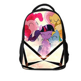 2016 New Cartoon schoolbag for Girls with My Little Pony pettern bags, student kids bag children good quality backpack for pupil