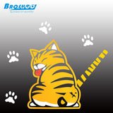 Cat Lovers Car decal back window windshield tail sticker paws moves while wiping rain or dirt off - Animetee - 2