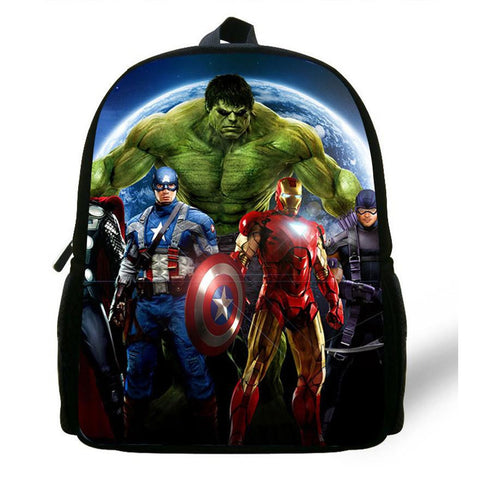 12inch Mini Mochila Captain America Bag Backpack Kids Boys Children School Bags Avengers Backpack Kids School Aged 1-6
