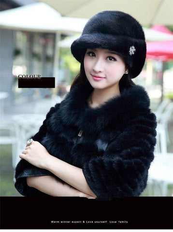 ... Fashion Winter Warm Russian Hat Women s Cap Solid Various Raeal Brbbit  Fur Hat For Ladys Female ... ef3cc2d34fdf