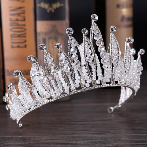 Cool Magnificent Crystal Queen King Crown Diadem Women bridal Wedding Pageant Prom Tiara Headdress Wedding Hair Jewelry AccessoriesAT_93_12