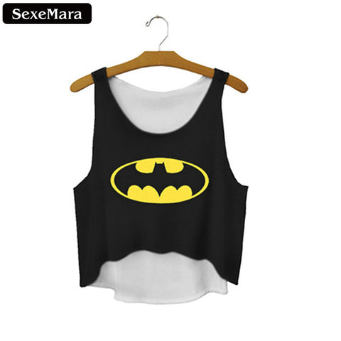 CHOOSE FROM Batman hello im barbie latinas we are young alice in wonderland flappy bird tank top tee t-shirt crop top tqi - Animetee - 1