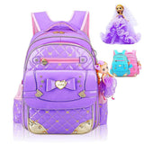 2017 New PU Waterproof Girl School Bag Lace Edge Fashion Girl's Backpack Kid School Bags Bag Backpacks