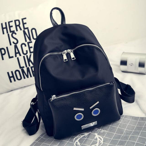 Backpack Female College Korean Nylon Small Monster Backpacks School Bag Large Capacity Waterproof Rucksack Travel Bags