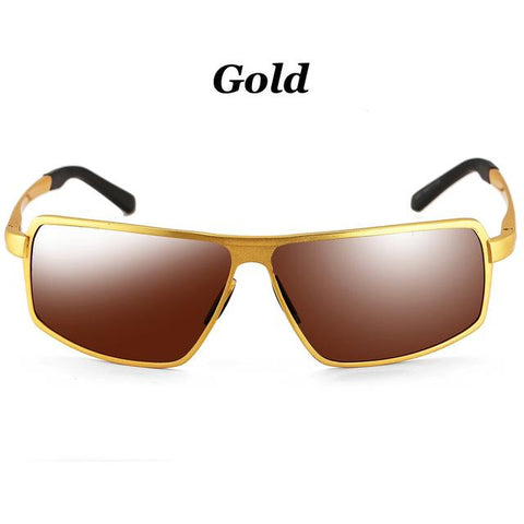 2016 New Polarized Driving Sunglasses for Men Square Metal Unbreakable Frame Retro Sun Glasses Mens driver glass oculos