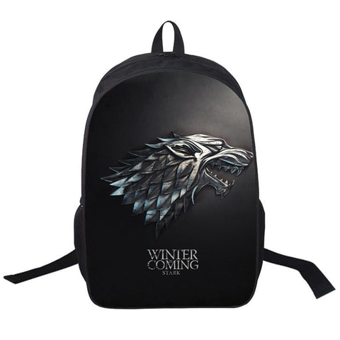 Free Shipping Game of Thrones Backpack Winter is Coming High Quality School Bag for Student Back School