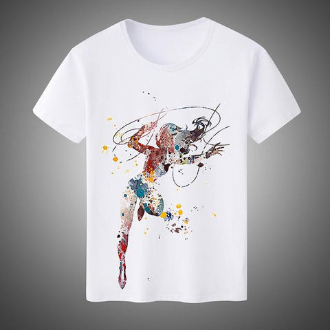 c90d1f28 ... New 2017 Summer Fashion Men's/Women's T-shirts Super Hero Wonder Woman  Cosplay Costumes ...