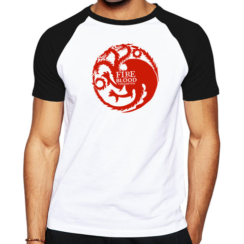 2016 Fashion tees Game of Thrones dragon designed men brand clothing good quality casual t-shirt short sleeves skate t shirt men - Animetee - 1
