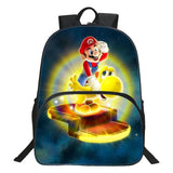 2017 New Style Kids Cartoon School Backpack Polyester 16 Inches Printing Super Mario Teenager Boys School Bags Children bag