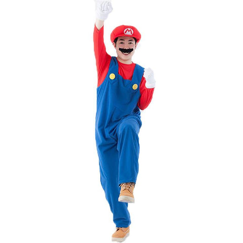 moonight halloween costumes men women super mario luigi brothers plumber costume jumpsuit fancy cosplay clothing for