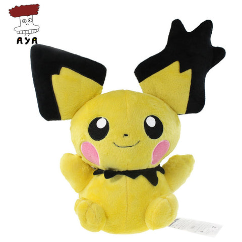 "Pokemon Plush Toys 14"" 35cm Big Pichu Soft Stuffed Plush Doll Baby Toy Animal Cartoon Christmas Gift Kids Toys for Children - Animetee"
