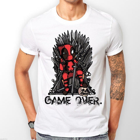 8d763356724e Deadpool Dead pool Taco Game of Thrones T shirt men game over Casual tee  USA size