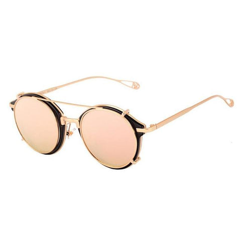 Newest Vintage Steampunk Sunglasses Round Designer Steam Punk Metal gafas Women Coating Glasses Men Retro Circle Sun Glasses