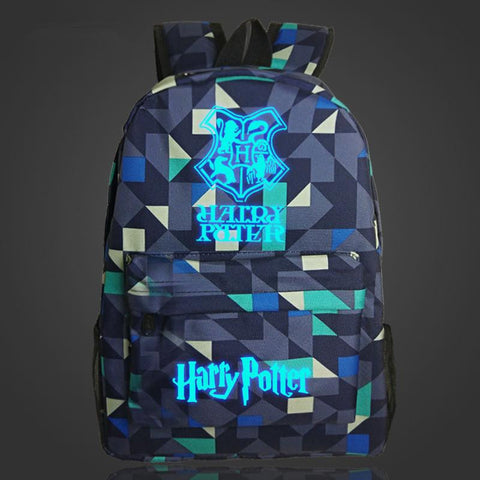 Japanese Anime Bag   Harry Potter Hogwarts  Backpack Luminous Printing School Bags For Teenager Mochila Backpacks AT_59_4