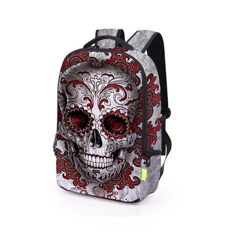 3D Printing Skull Backpack Mochila Feminina Backpacks Women Men Travel Bag School Bags For Young