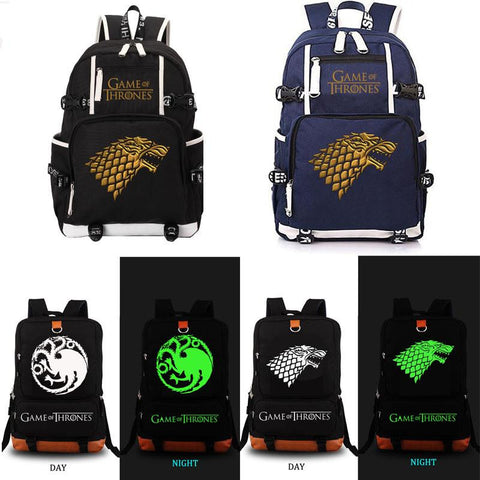 Game of Thrones Backpack Unisex Fashion Backpack Laptop Backpack school bag Black Blue Rucksack