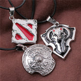 2015 Hot Network Game Dota 2 Sign Pendant Necklace Enamel Necklace DOTA 2 Roshan Shield Pendants Necklace - Animetee - 1