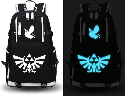 Japanese Anime Bag 2017 Fashion The Legend of Zelda Backpack Cosplay Canvas Bag Luminous Schoolbag Travel Bags  AT_59_4