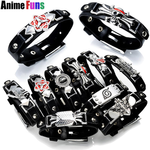 8 Type Anime Game Star Bracelet One Piece Naruto Black Butler Attack On Titan Final Fantasy Exo League Of Legends Leather Bangle 2019 Official Jewelry & Accessories Bracelets & Bangles