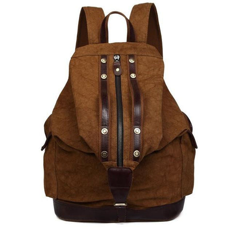 2017 vintage men's backpacks rucksack canvas shoulder bags luggage travel backpack bag Hit color bag