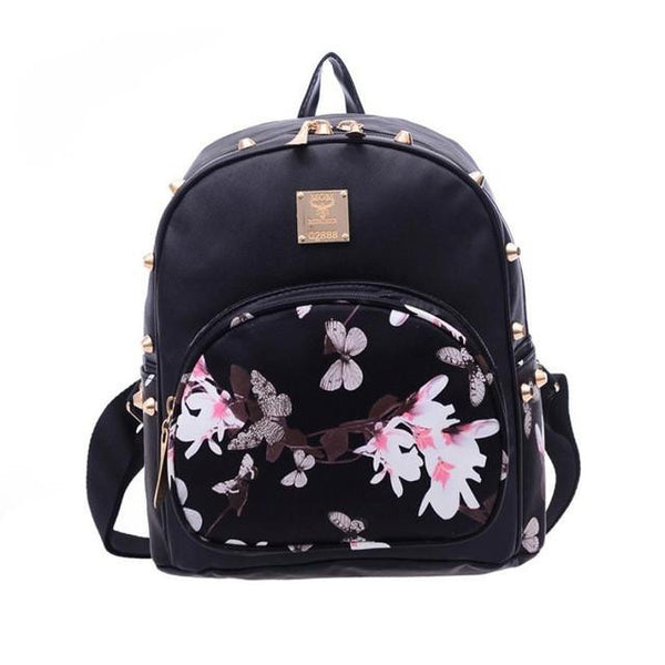 Women Backpack Small Size Black PU Leather Women s Backpacks School Gi –  2018 AT 142 30 (Animetee.com Friends) 62a5ec0554660