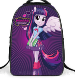2016 Cute School Bags For Teenagers Girls Pony Horse Twilight Sparkle Backpack Kids SchoolBags Children Mochila