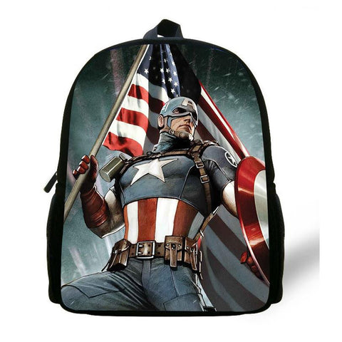 12 inch Mochila Captain America Bag Avengers Backpack Kids Bags Boys Age 1-6 Children School Bags Mochila Infantil Menino