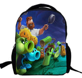 17inch Plants VS Zombies Backpack for Boys Girls Kids Cartoon Game PVZ men Bag garden warfare 2 custom made