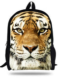 16-inch Children Animal Bag  White Tiger Head Backpack Kids School Bag For Boys Aged 7-13 Mens Backpack Mochila Escolar Menino