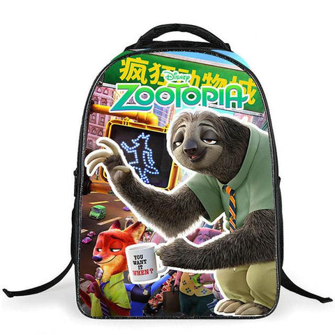 9146ed7e62a6 ... Zootopia Children Backpacks Cute Animal FOX Kids School Bags for Girl  Boys Satchel 16 Inch Schoolbag ...