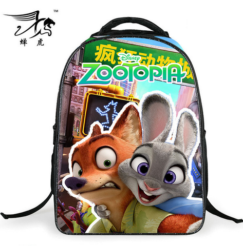 16 Inch Children Backpacks Zootopia Bag Kids Backpack For Boys Judy Hopps Nick Wilde Zootropolis Children School Bags For Girls