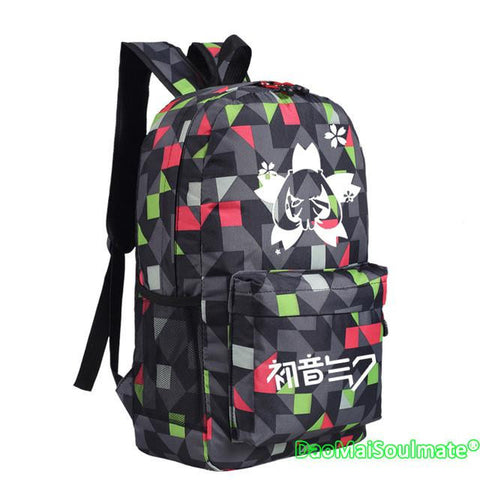 Anime Music Girl Hatsune Miku Girls School Bags Laptop Backpacks Women Cartoon Rucksack Students Women Children Small Schoolbag