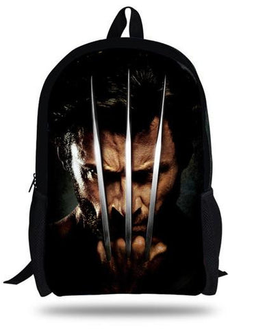 16-inch Mochila Escolar Menino X-MEN Bags Children School Backpacks For Boys Bag Kids Backpack X-MEN Logan Printing