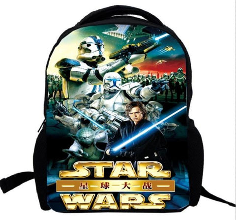 17inch Star Wars Backpack double layer Darth Vader  School Bag Yoda Fashion Kid's Children's bag 1 men custom made