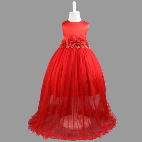 7d617dadf0 2017 Brand Flower Girl Dresses Long Evening Party Gown Pageant Childre –  2018 AT 142 30 (Animetee.com SBRA)