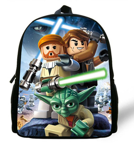 12-inch Mochila Star Wars Backpack Kids Boys Batman Indiana Johns School Bags Children Backpack Cartoon Character Design