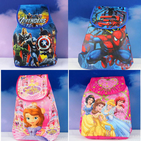 12Pcs Avengers Spiderman Princess Sofia Cartoon Kids Drawstring Backpack Shopping School Traveling Party Bags Birthday Gifts