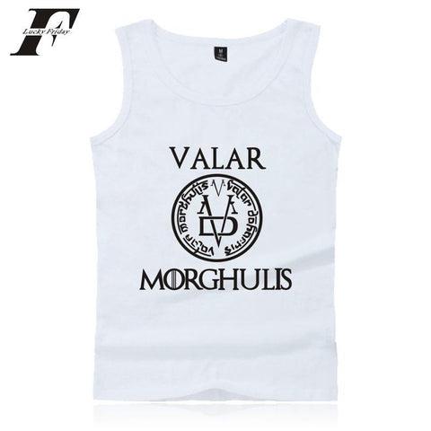 Winter Game of Thrones GOT LUCKYFRIDAYF  2017 New Men/Women Tank Tops fitness Bodybuilding Kpop Shirt 4XL Clothes Summer Vests PLUS SIZE AT_77_7