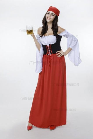 Pirate costume oktoberfest costume Adult Carnival Halloween costume for  women plus size cosplay costumes fancy medieval dresses