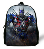 12-inch Mochila Optimus Prime Megatron Backpack School Kids Bags Boys Cartoon Autobots BUMBLEBEE Backpack Chid Cartoon Bags Gift