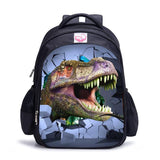 2017 New 3D Zoo Animals School Bags for Boys Dinosaur Schoolbag Child Bookbag Kids Backpack mochilas escolar infantil 16 Inch
