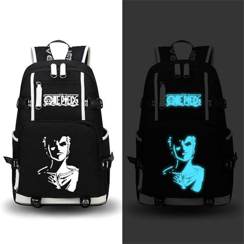 Japanese Anime Bag  One Piece Backpack Cosplay Roronoa Zoro Chopper Luffy Laptop Bags Fashion School Bag Bookbag Knapsack Packsack Satchel AT_59_4