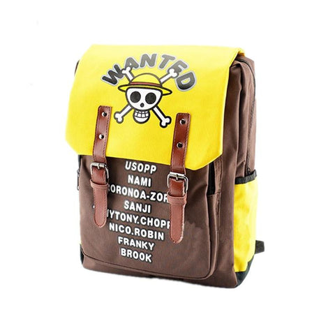 Anime one piece Luffy boy canvas men's backpacks Travel bags Laptop students school Bags military fashion backpack