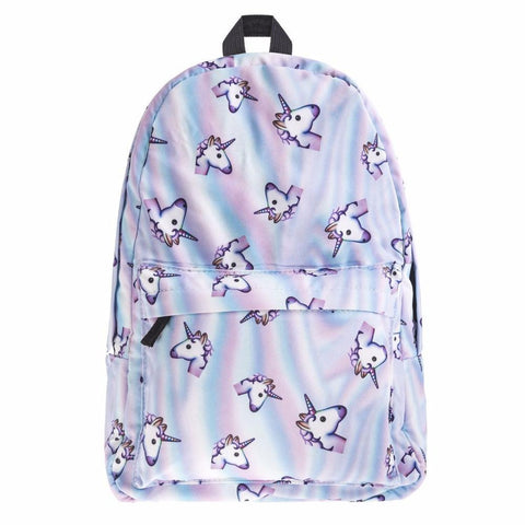 2017 New 3D unicorn Printing backpack women bag mochila top quality bookbag school bags for teenage girls