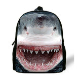 12-inch Great White Shark Backpack Child Animal Prints Animal Bag Kids Boy School Bag Mochila Menino Age 1-6 Casual Daypack