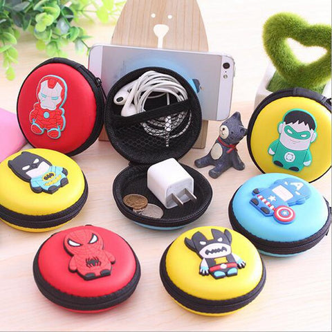 2016 New Novelty Super Heroes Silicone Coin Purse Key Wallet Mini Storage Organizer Bag Dual Earphone Holder Birthday Gift - Animetee